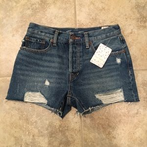 Free People Destoyed Cut Off Shorts NWT 25